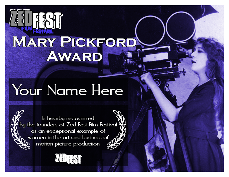 Zed Fest Mary Pickford Award